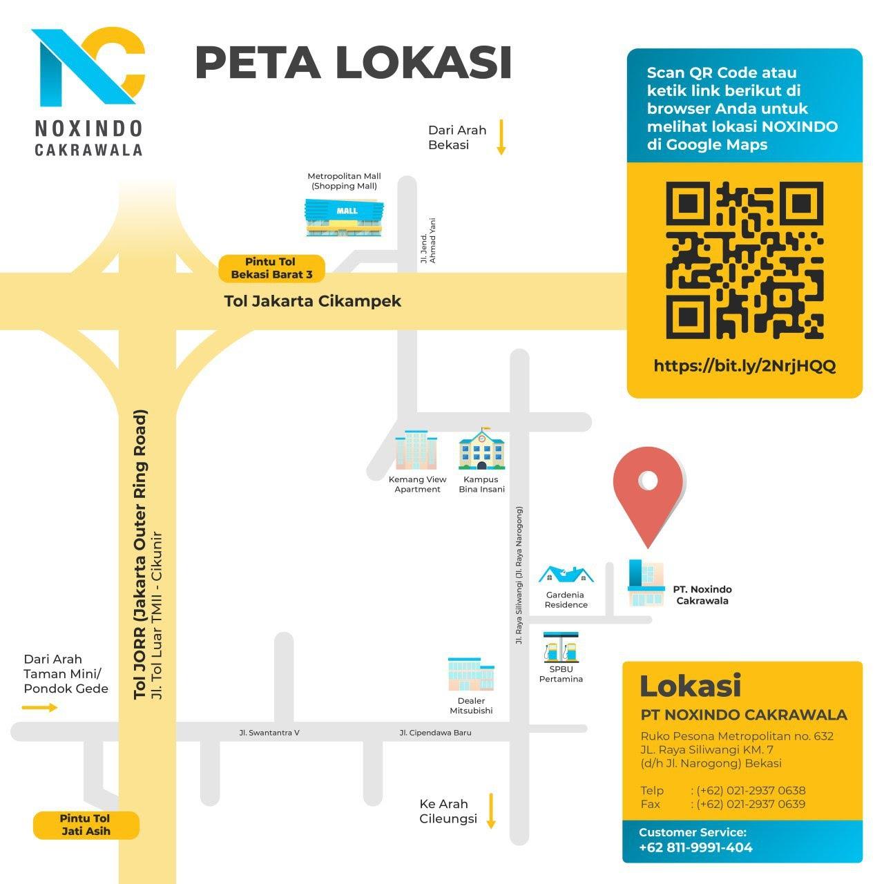 Sket Denah Peta Menuju PT Noxindo Cakrawala